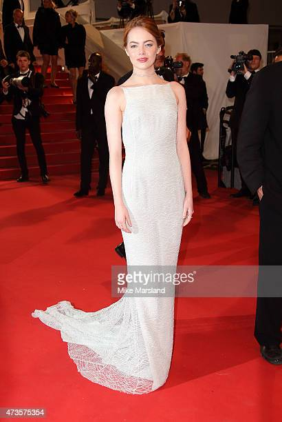 Emma Stone attends the 'Irrational Man' Premiere during the 68th annual Cannes Film Festival on May 15 2015 in Cannes France
