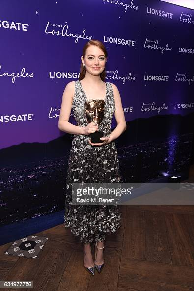 Emma Stone attends the 'La La Land' BAFTA after party hosted by Lionsgate at 100 Wardour St on February 12 2017 in London England