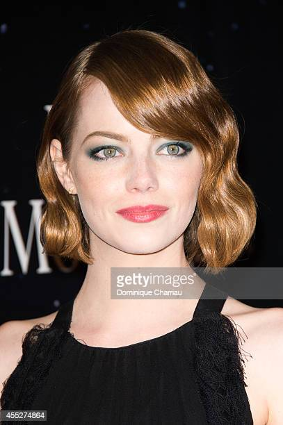 Emma Stone attends the 'Magic In The Moonlight' Paris Premiere at UGC Cine Cite Bercy on September 11 2014 in Paris France