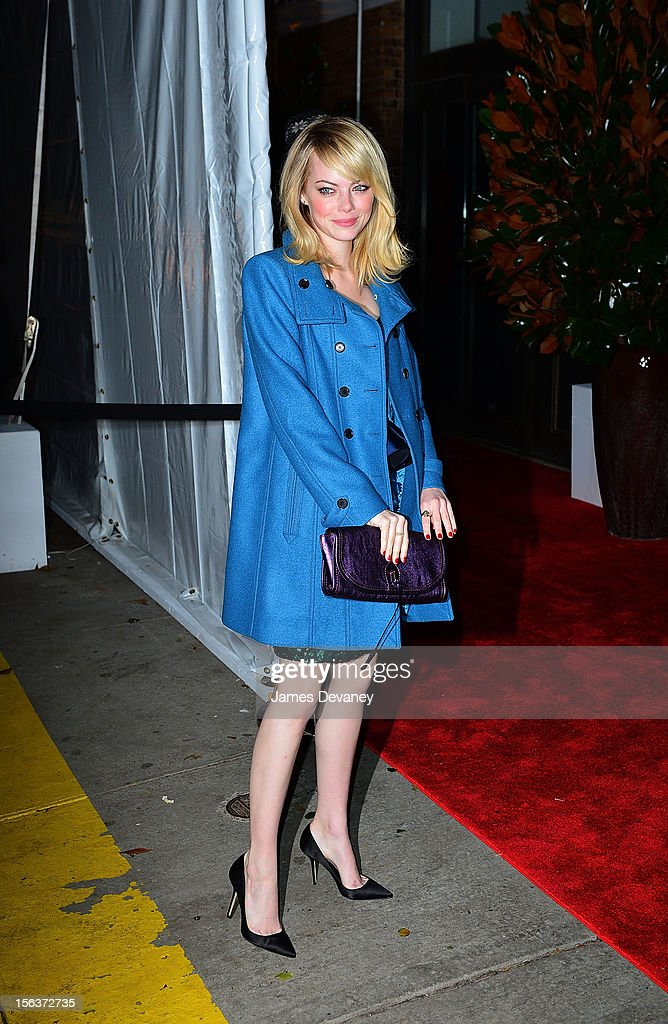 Emma Stone attends The Ninth Annual CFDA/Vogue Fashion Fund Awards at 548 West 22nd Street on November 13, 2012 in New York City.