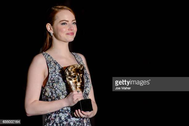 Emma Stone attends the official after party for the 70th EE British Academy Film Awards at The Grosvenor House Hotel on February 12 2017 in London...