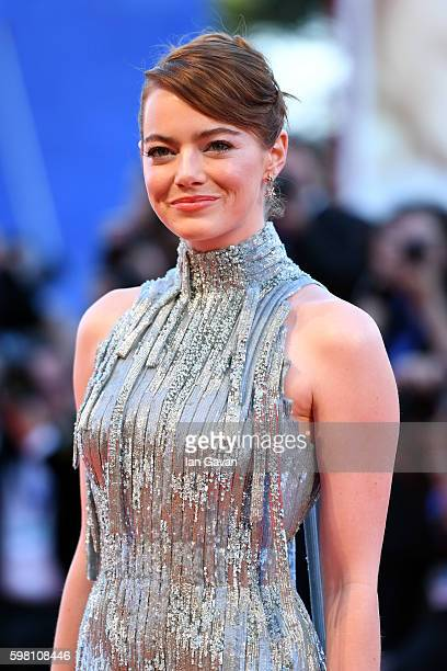 Emma Stone attends the opening ceremony and premiere of 'La La Land' during the 73rd Venice Film Festival at Sala Grande on August 31 2016 in Venice...
