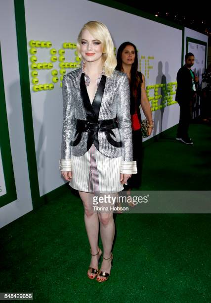 Emma Stone attends the premiere of Fox Searchlight Picture 'Battle Of The Sexes' at Regency Village Theatre on September 16 2017 in Westwood...