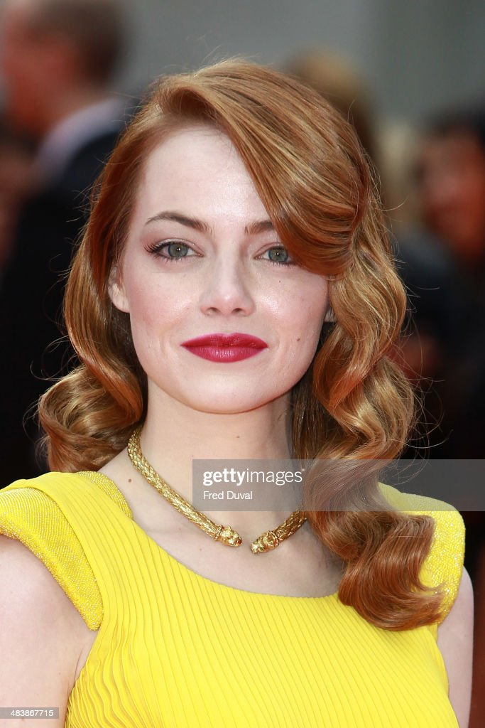 <a gi-track='captionPersonalityLinkClicked' href=/galleries/search?phrase=Emma+Stone&family=editorial&specificpeople=672023 ng-click='$event.stopPropagation()'>Emma Stone</a> attends the premiere of 'The Amazing Spider-Man 2' at Odeon Leicester Square on April 10, 2014 in London, England.