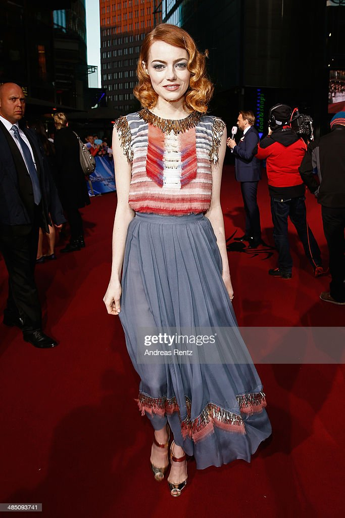 <a gi-track='captionPersonalityLinkClicked' href=/galleries/search?phrase=Emma+Stone&family=editorial&specificpeople=672023 ng-click='$event.stopPropagation()'>Emma Stone</a> attends the 'The Amazing Spider-Man 2: Rise Of Electro' Berlin Premiere at CineStar on April 15, 2014 in Berlin, Germany.