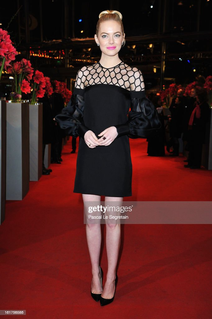 <a gi-track='captionPersonalityLinkClicked' href=/galleries/search?phrase=Emma+Stone&family=editorial&specificpeople=672023 ng-click='$event.stopPropagation()'>Emma Stone</a> attends the 'The Croods' Premiere during the 63rd Berlinale International Film Festival at Berlinale Palast on February 15, 2013 in Berlin, Germany.