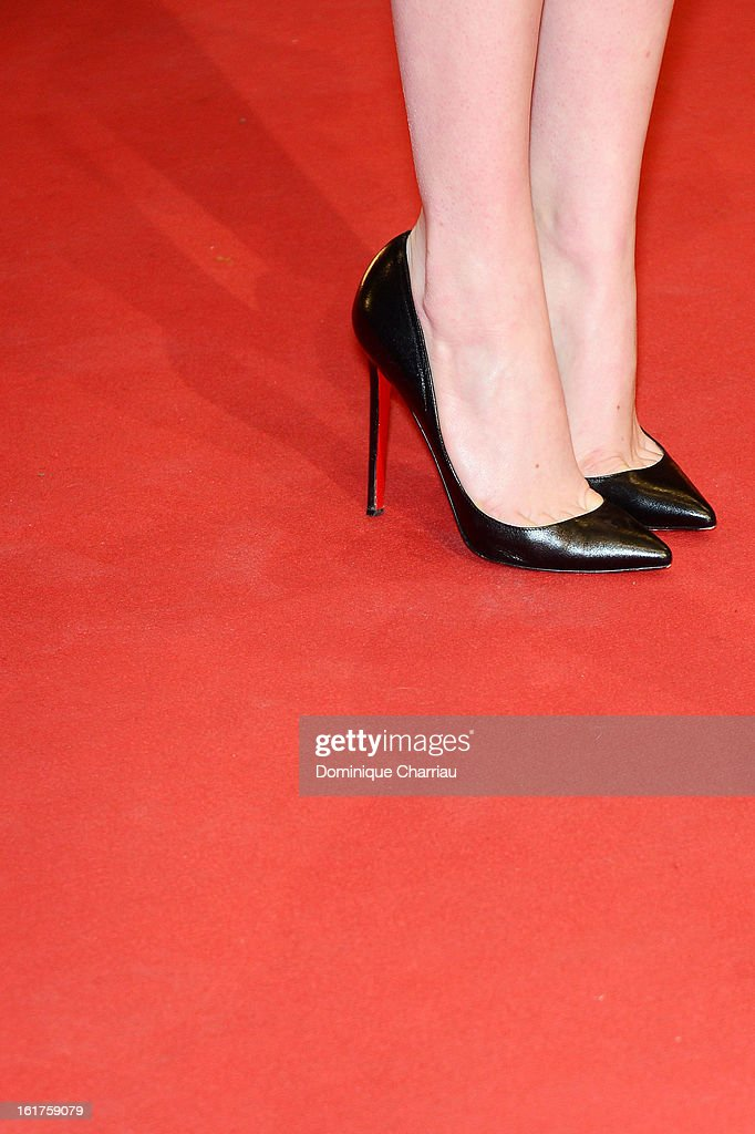 Emma Stone (shoe detail) attends the 'The Croods' Premiere during the 63rd Berlinale International Film Festival at Berlinale Palast on February 15, 2013 in Berlin, Germany.