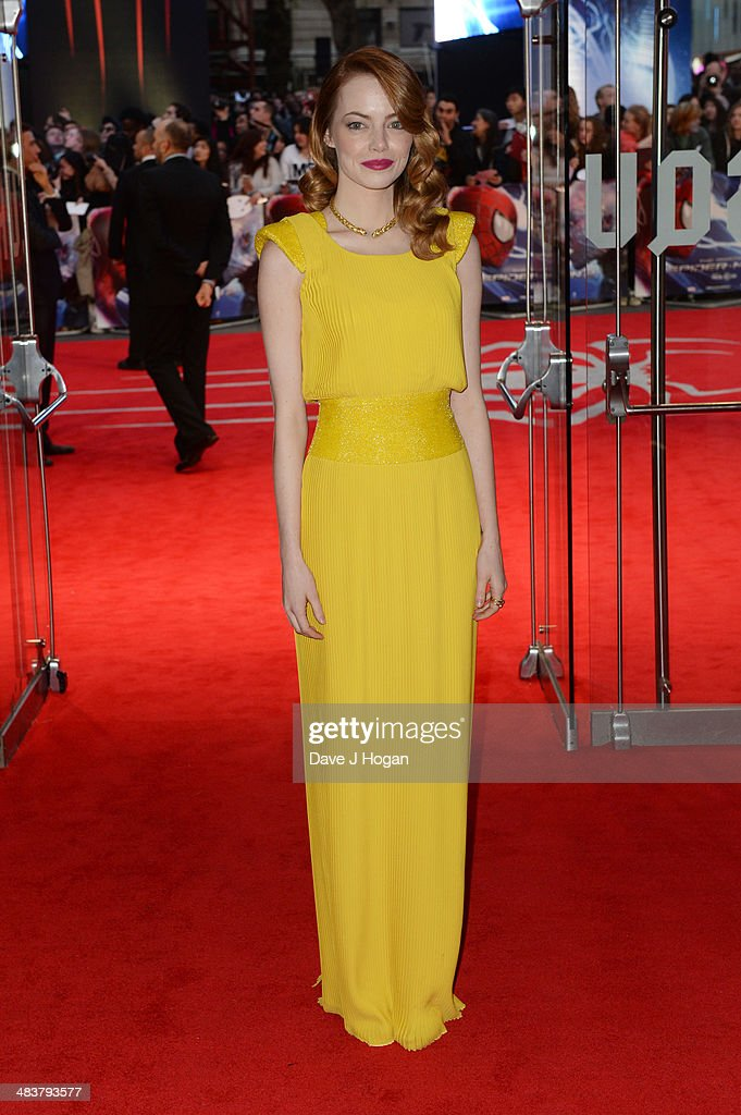 <a gi-track='captionPersonalityLinkClicked' href=/galleries/search?phrase=Emma+Stone&family=editorial&specificpeople=672023 ng-click='$event.stopPropagation()'>Emma Stone</a> attends the world premiere of 'The Amazing Spider-Man 2' at The Odeon Leicester Square on April 10, 2014 in London, England.