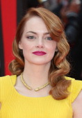 Emma Stone attends the World Premiere of 'The Amazing SpiderMan 2' at Odeon Leicester Square on April 10 2014 in London England