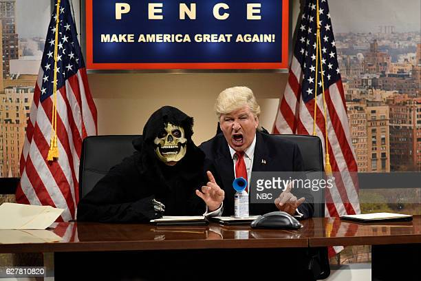 LIVE 'Emma Stone' Episode 1712 Pictured Alec Baldwin as Donald Trump during the 'Classroom Cold Open' sketch on December 3 2016