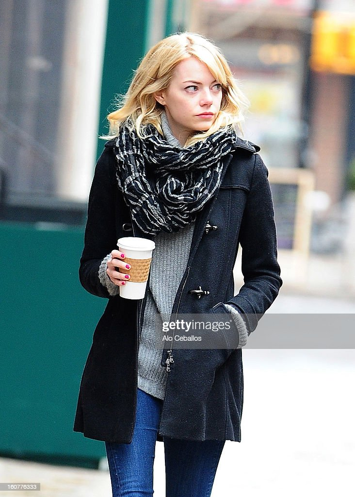 <a gi-track='captionPersonalityLinkClicked' href=/galleries/search?phrase=Emma+Stone&family=editorial&specificpeople=672023 ng-click='$event.stopPropagation()'>Emma Stone</a> is seen in Tribeca on February 5, 2013 in New York City.