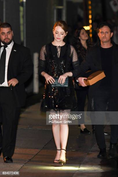Emma Stone is seen leaving Jimmy Kimmel Live on February 06 2017 in Los Angeles California