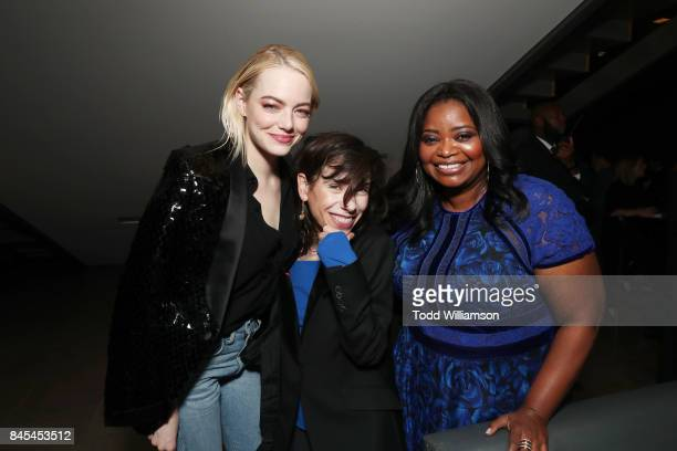 Emma Stone Sally Hawkins and Octavia Spencer attend Fox Searchlight's Toronto Film Festival Party on September 10 2017 in Toronto Canada