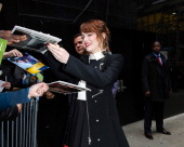 Emma Stone seen outside 'Good Morning America' on April 29 2014 in New York City
