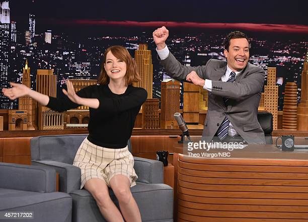 Emma Stone Visits 'The Tonight Show Starring Jimmy Fallon' at Rockefeller Center on October 14 2014 in New York City