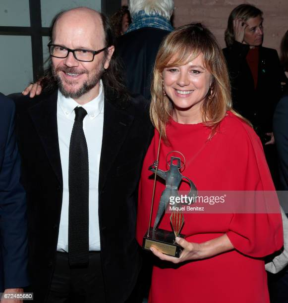 Emma Suarez and Santiago Segura attend the 61th Sant Jordi Cinematography Awards 2017 at the old brewery Damm on April 24 2017 in Barcelona Spain