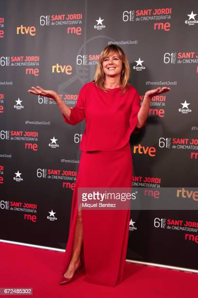 Emma Suarez attends the 61th Sant Jordi Cinematography Awards 2017 at the old brewery Damm on April 24 2017 in Barcelona Spain