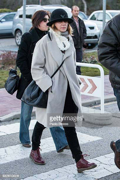 Emma Suarez attends the funeral chapel for Bimba Bose on January 24 2017 in Madrid Spain Bimba Bose died in Madrid at the age of 41 after losing her...