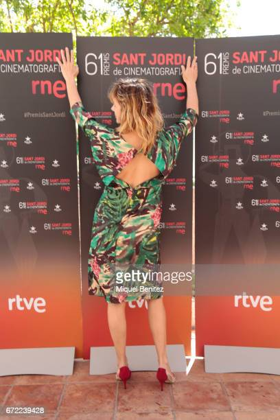 Emma Suarez attends the press conference of 'Sant Jordi' Cinematography Awards 2017 at Arts Hotel on April 24 2017 in Barcelona Spain
