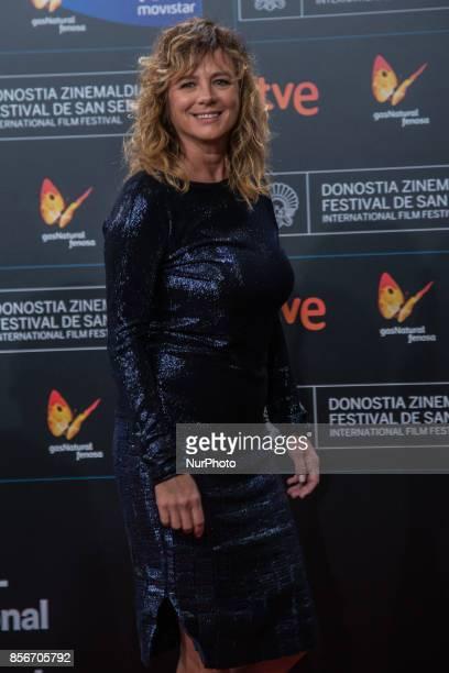 Emma Suarez attends the red carpet of the closure gala during 65th San Sebastian Film Festival at Kursaal on September 30 2017 in San Sebastian Spain