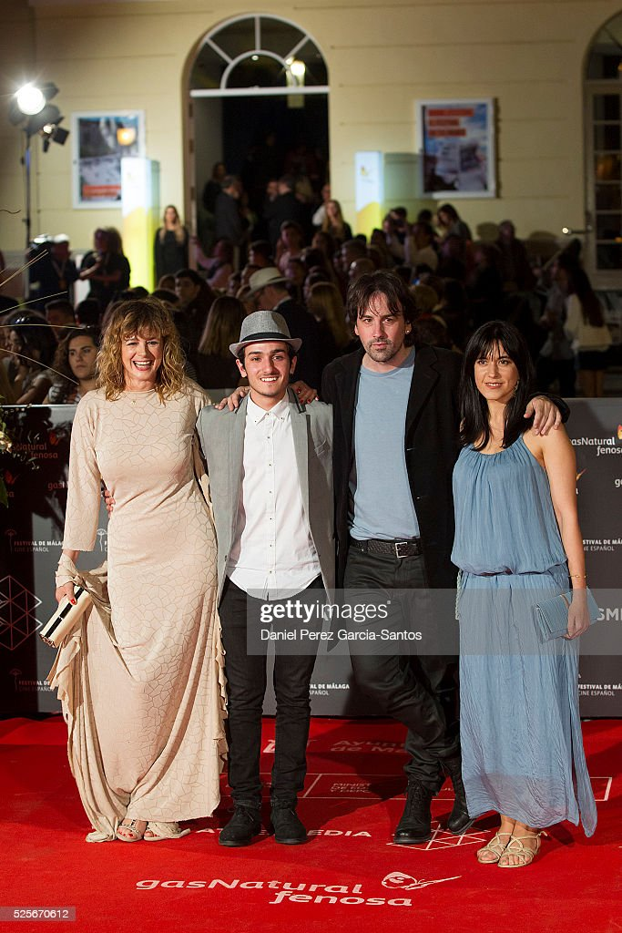 Emma Suarez, Mikel Iglesias, Isaki Lacuesta and Isa Campo attend 'La Ultima Piel' premiere at the Cervantes Teather during the 19th Malaga Film Festival on April 28, 2016 in Malaga, Spain.