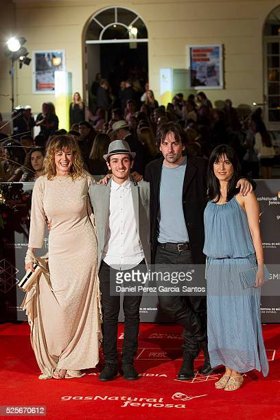 Emma Suarez Mikel Iglesias Isaki Lacuesta and Isa Campo attend 'La Ultima Piel' premiere at the Cervantes Teather during the 19th Malaga Film...