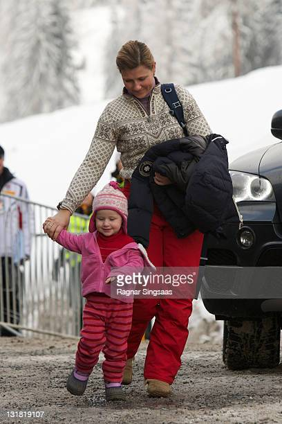 Emma Tallulah Behn and Princess Martha Louise of Norway attend the FIS Nordic World Ski Championship 2011 Mens Cross Country Pursuit at Holmenkollen...