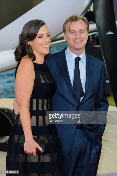 Emma Thomas and Christopher Nolan arriving at the 'Dunkirk' World Premiere at Odeon Leicester Square on July 13 2017 in London England