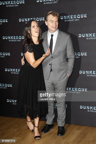 Emma Thomas and Christopher Nolan attend 'Dunkirk' Premiere at Ocine on July 16 2017 in Dunkerque France