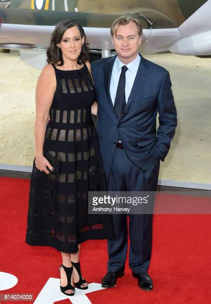 Emma Thomas and Christopher Nolan attend the 'Dunkirk' World Premiere at Odeon Leicester Square on July 13 2017 in London England