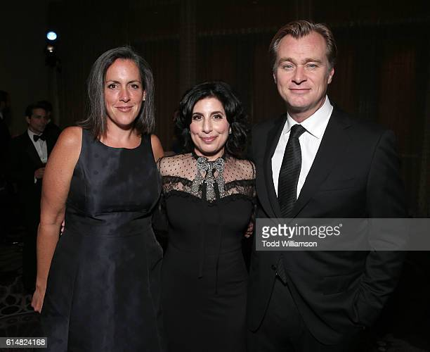 Emma Thomas Christopher Nolan and Honoree Warner Bros President of Worldwide Marketing and Distribution Sue Kroll attend the 30th Annual American...