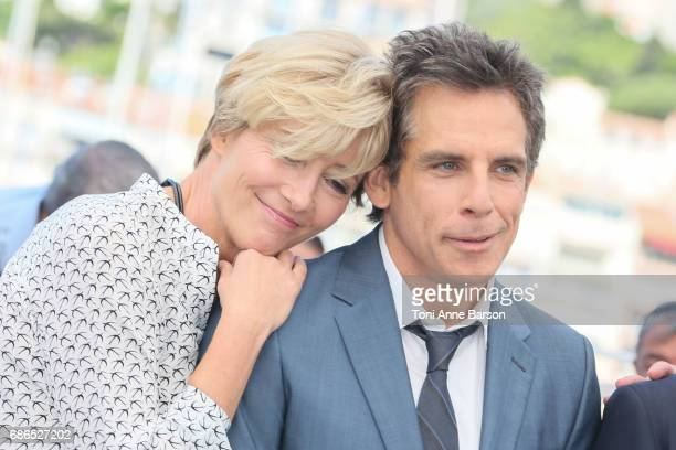 Emma Thompson and Ben Stiller attend the 'The Meyerowitz Stories' Photocall during the 70th annual Cannes Film Festival at Palais des Festivals on...