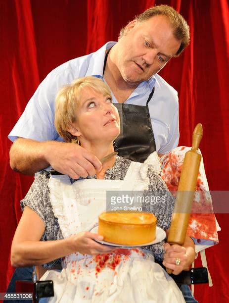 Emma Thompson and Bryn Terfel pose during a photocall for 'Sweeney Todd The Demon Barber of Fleet Street' at London Coliseum on September 16 2014 in...