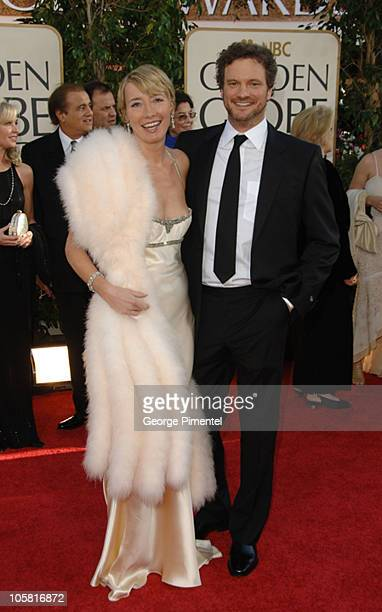 Emma Thompson and Colin Firth during The 63rd Annual Golden Globe Awards Arrivals at Beverly Hilton Hotel in Beverly Hills California United States