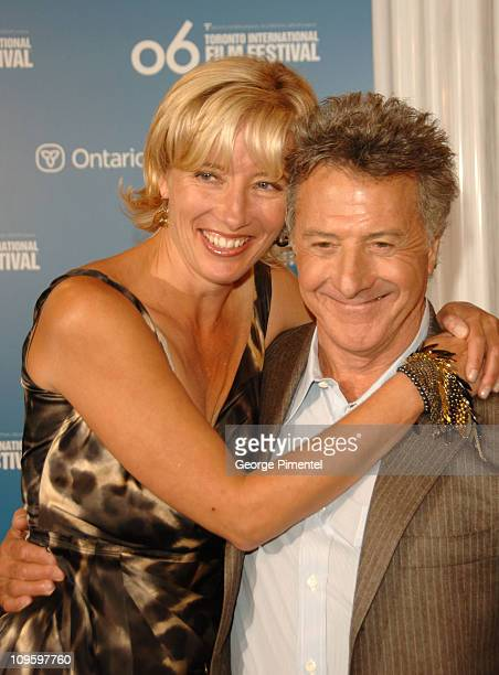 Emma Thompson and Dustin Hoffman during 31st Annual Toronto International Film Festival 'Stranger Than Fiction' Press Conference at Sutton Place...