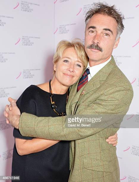 Emma Thompson and Greg Wise attend the launch of The Estee Lauder Companies' UK Breast Cancer Awareness Campaign 2014 'Hear Our Stories Share Yours'...