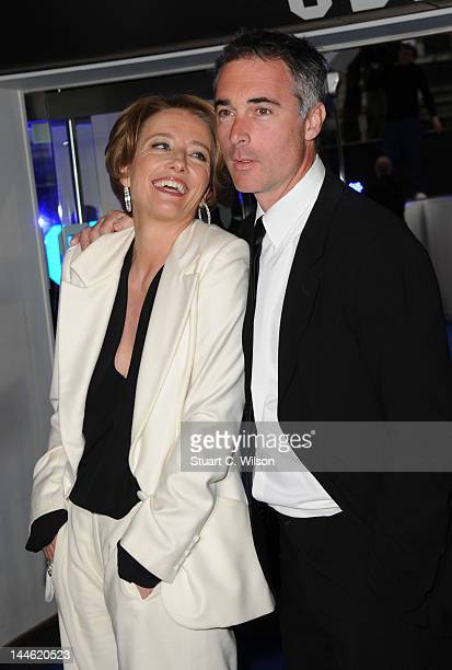 Emma Thompson and Greg Wise attend the premiere for Men In Black 3 at Odeon Leicester Square on May 16 2012 in London England