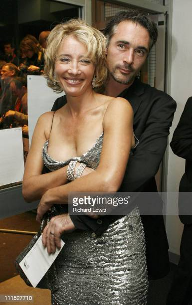 Emma Thompson and Greg Wise during The Times BFI London Film Festival 'Stranger Than Fiction' Gala Screening Foyer at Odeon West End in London Great...