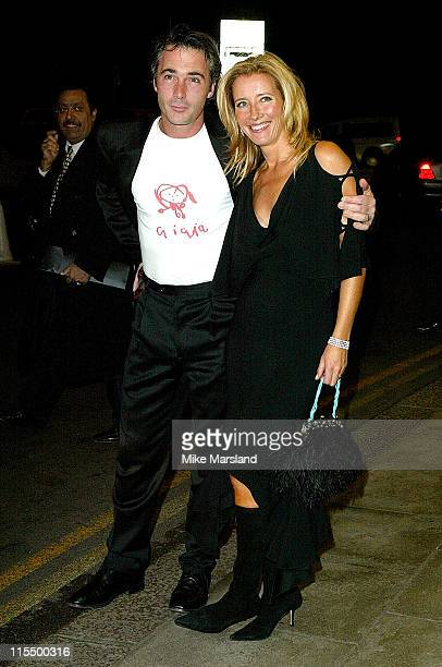 Emma Thompson and husband Greg Wise during 2004 Sony Ericsson Empire Film Awards Arrivals at Dorchester Hotel in London Great Britain