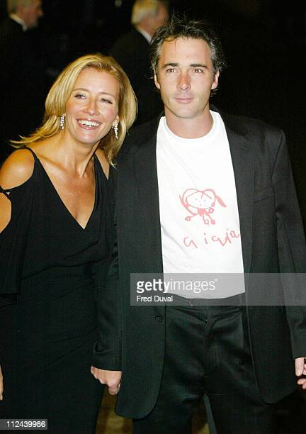 Emma Thompson and husband Greg Wise during The 2004 Empire Film Awards at The Dorchester Hotel in London United Kingdom