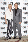 Emma Thompson and Tom Hanks attend the photocall for 'Saving Mr Banks' during the 57th BFI London Film Festival at The Dorchester on October 20 2013...