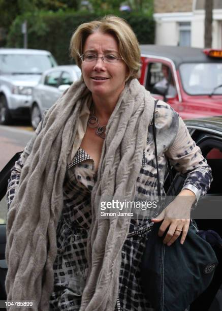 Emma Thompson arrives at ITV studios on October 5 2010 in London England