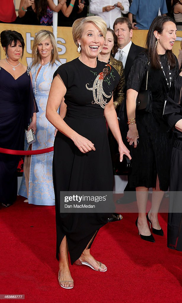 Emma Thompson arrives at the 20th Annual Screen Actors Guild Awards at the Shrine Auditorium on January 18, 2014 in Los Angeles, California.