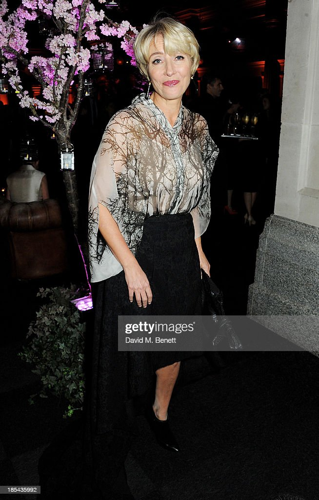 <a gi-track='captionPersonalityLinkClicked' href=/galleries/search?phrase=Emma+Thompson&family=editorial&specificpeople=202848 ng-click='$event.stopPropagation()'>Emma Thompson</a> attends an after party for the Closing Night Gala European Premiere of 'Saving Mr Banks' during the 57th BFI London Film Festival at The Old Billingsgate on October 20, 2013 in London, England.
