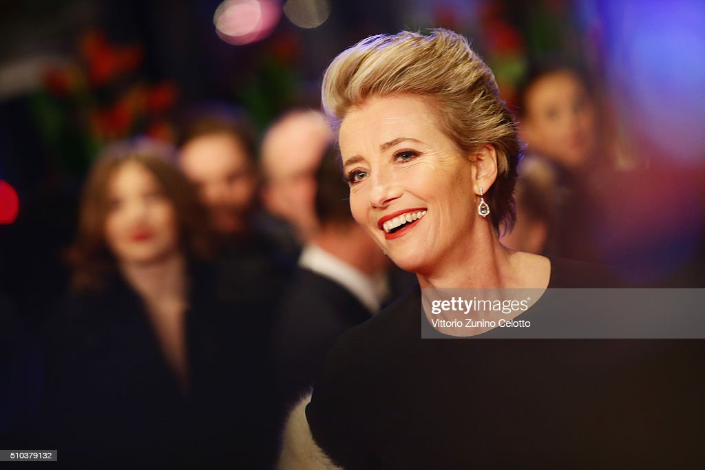 Emma Thompson attends the 'Alone in Berlin' (Jeder stirbt fuer sich) premiere during the 66th Berlinale International Film Festival Berlin at Berlinale Palace on February 15, 2016 in Berlin, Germany.