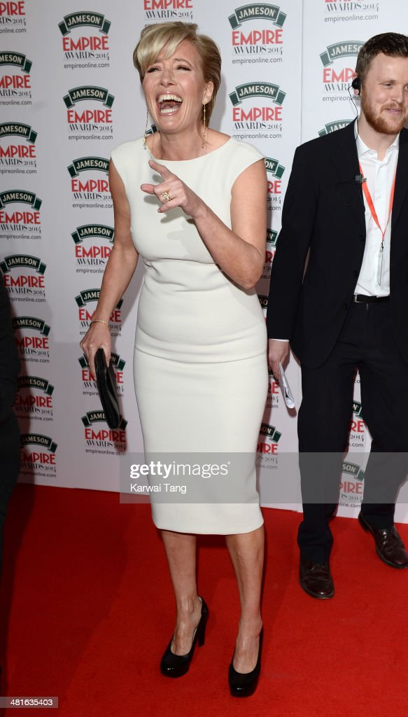 Emma Thompson attends the Jameson Empire Film Awards at Grosvenor House on March 30, 2014 in London, England.