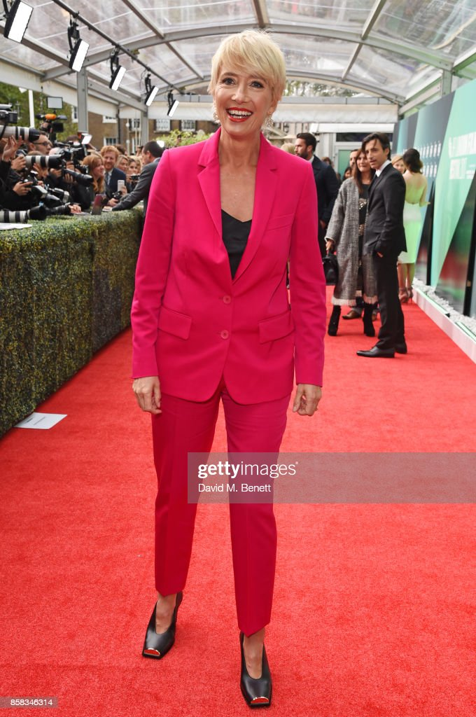 Emma Thompson attends the Laugh Gala & UK Premiere of 'The Meyerowitz Stories' during the 61st BFI London Film Festival at Embankment Gardens Cinema on October 6, 2017 in London, England.