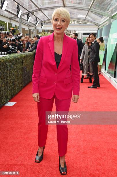Emma Thompson attends the Laugh Gala UK Premiere of 'The Meyerowitz Stories' during the 61st BFI London Film Festival at Embankment Gardens Cinema on...