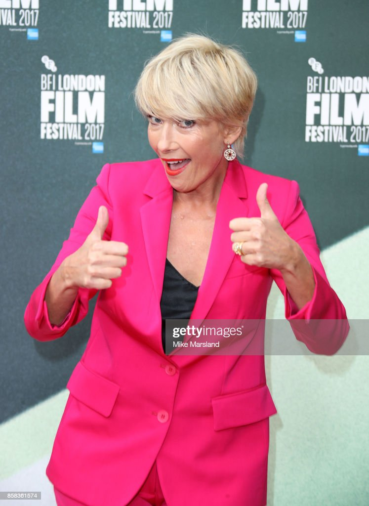 Emma Thompson attends the Laugh Gala & UK Premiere of 'The Meyerowitz Stories' during the 61st BFI London Film Festival on October 6, 2017 in London, England.