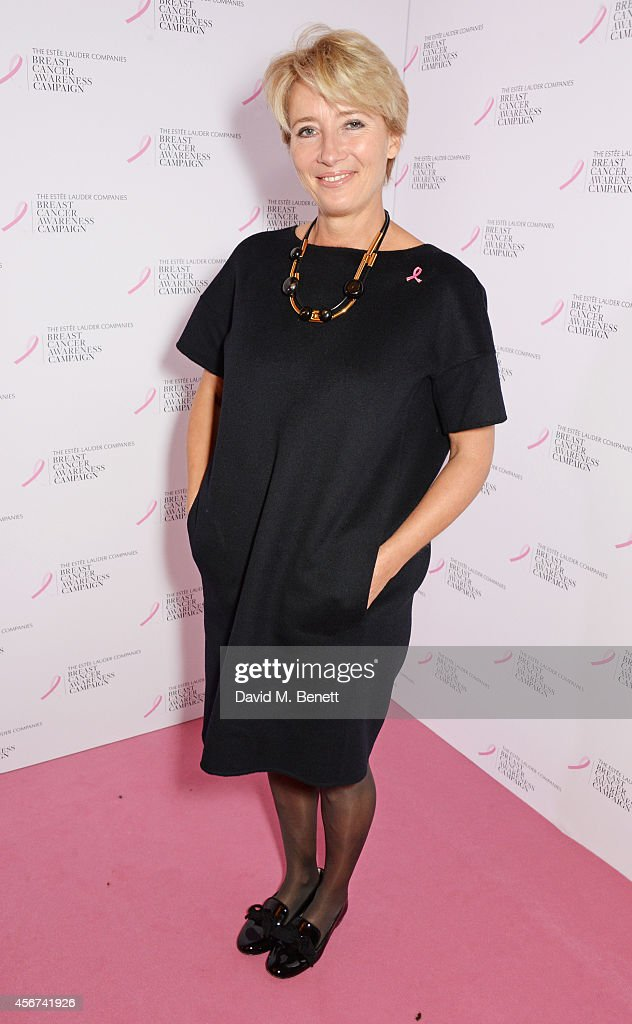 Emma Thompson attends the launch of The Estee Lauder Companies' UK Breast Cancer Awareness (BCA) Campaign 2014 'Hear Our Stories. Share Yours' at Kensington Palace on October 6, 2014 in London, England.